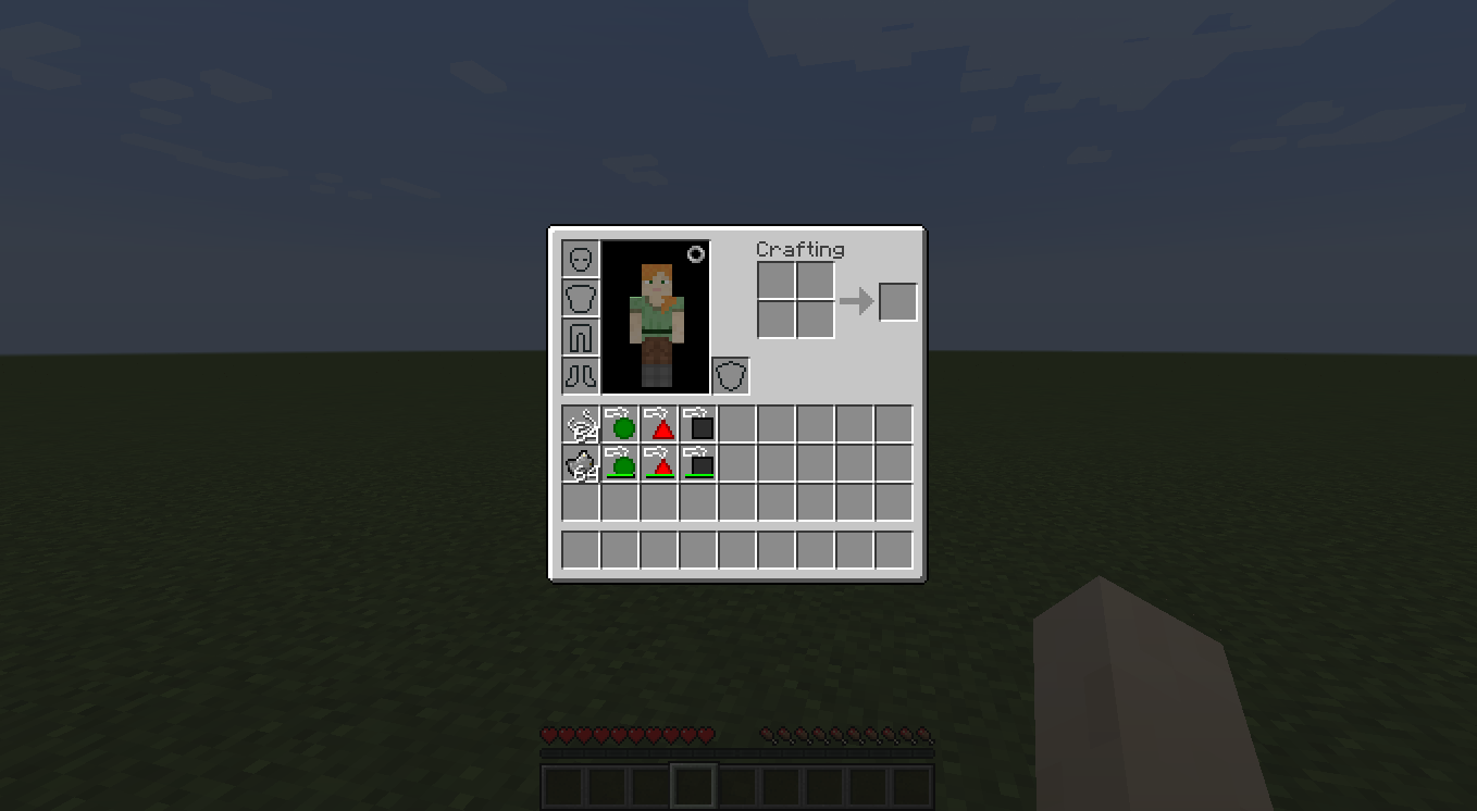 Minecraft inventory with Autism Acceptance Mod items